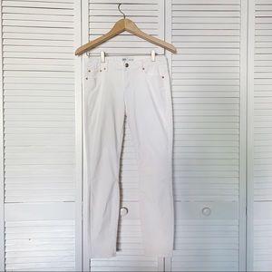 Zara Premium Denim White High Rise Skinny Jeans